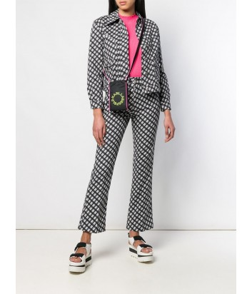 Мини-сумка через плечо Karl Lagerfeld 91KW3236 черная с неоновыми вставками