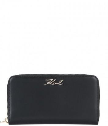 Портмоне на молнии Karl Lagerfeld 86KW3210 в гладкой коже черное