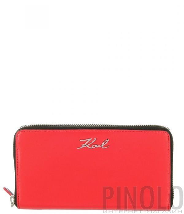 71fec382654a Портмоне на молнии Karl Lagerfeld 86KW3210 в гладкой коже красное ...