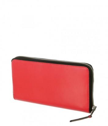 Портмоне на молнии Karl Lagerfeld 86KW3210 в гладкой коже красное