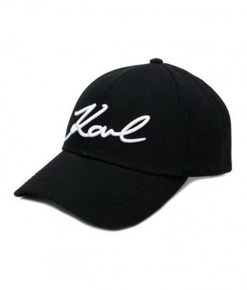 Черная кепка Karl Lagerfeld 86KW3412 с вышитым логотипом