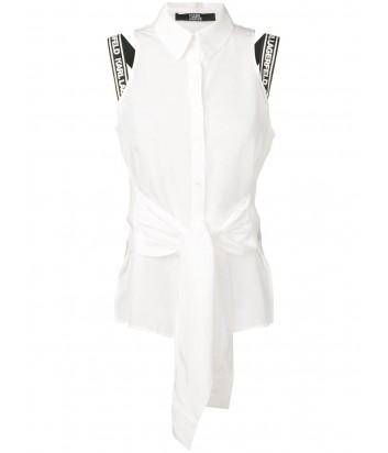 Белый топ Karl Lagerfeld 91KW1610 с брендированными бретелями