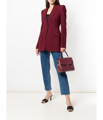 Кожаная сумка Michael Kors Ava Medium с короткой ручкой и плечевым ремнем бордовая