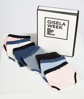 """Разноцветные трусы Gisela 5233 \\""""неделька\\"""" 7шт/уп"""
