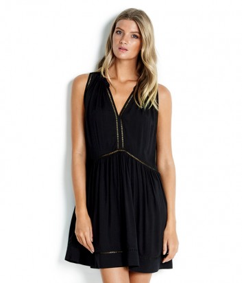 Платье Seafolly 52931-DR свободного кроя черное