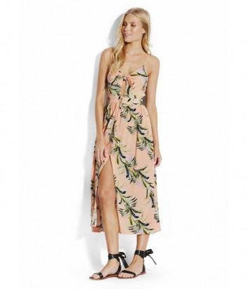 Длинное платье Seafolly 53420 персиковое с принтом