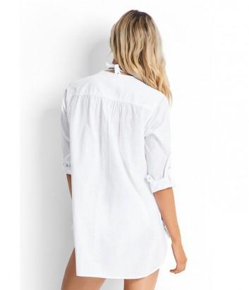 "Хлопковая рубашка \\""бойфренд\\"" Seafolly 52815 белая"