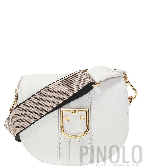 edfd9c3a00d0 Кожаная сумка через плечо Furla Gioia 1007615 белая - купить в ...