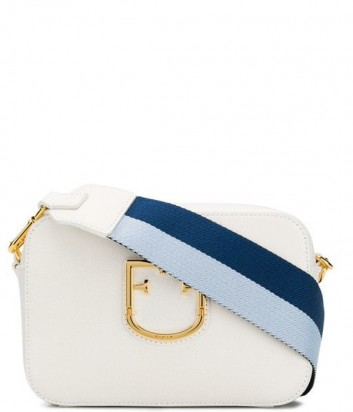 a38ae959780b Кожаная сумка Furla Brava 1007916 с широким плечевым ремнем белая ...
