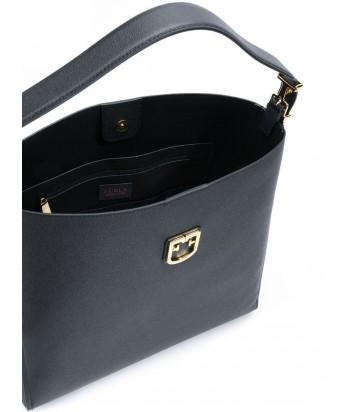 5631b3630752 Черная сумка Furla Belvedere 1008051 в мелкозернистой коже - купить ...