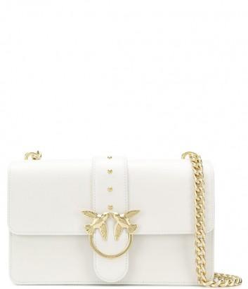 Сумка на цепочке PINKO Love Bag 1P21DSY в гладкой коже цвета белая