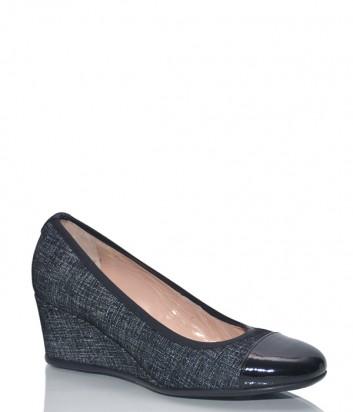 Замшевые туфли Donna Serena 5801 с лазерной обработкой черные