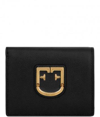 Кожаный кошелек Furla Belvedere 1008456 с золотистой фурнитурой черный