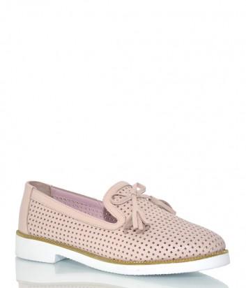 Туфли Lab Milano 62003 из перфорированной кожи розовые
