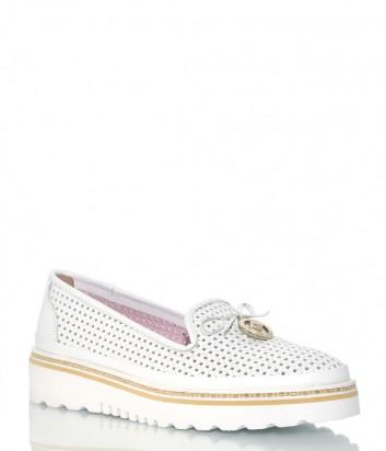 Туфли Lab Milano 204964 из перфорированной кожи белые