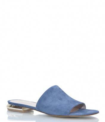 Замшевые шлепанцы Tosca Blu 249 синие