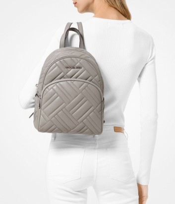 Рюкзак Michael Kors Abbey в стеганной коже серый