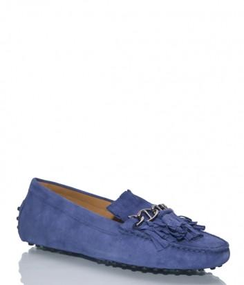 Замшевые мокасины Patrizio Dolci 40141 синие