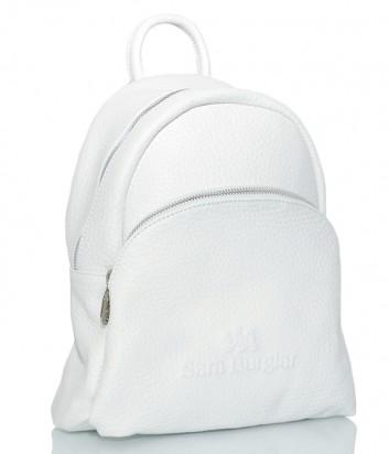 Кожаный рюкзак Sara Burglar 750 с внешним карманом белый