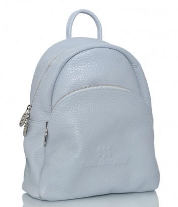 Кожаный рюкзак Sara Burglar 750 с внешним карманом голубой