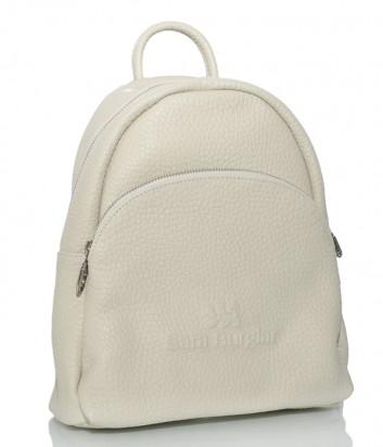 Кожаный рюкзак Sara Burglar 750 с внешним карманом нежно-желтый