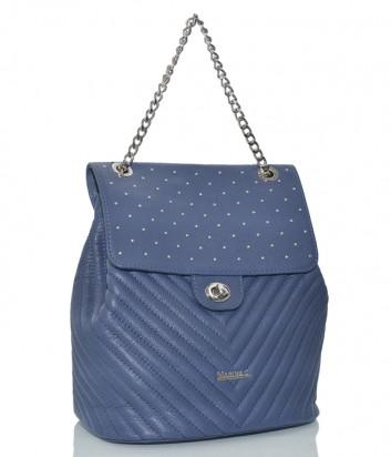 Рюкзак-сумка Marina Creazioni в стеганной коже синий