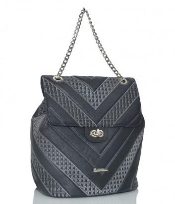 Рюкзак-сумка Marina Creazioni в стеганной коже черный
