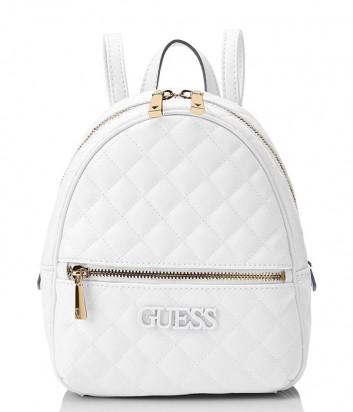 Стеганный рюкзак Guess 2320 с внешним карманом белый
