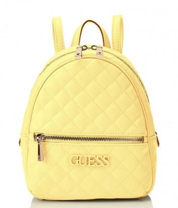Стеганный рюкзак Guess 2320 с внешним карманом желтый