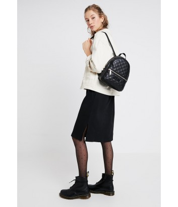 Стеганный рюкзак Guess 2320 с внешним карманом черный