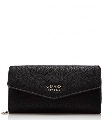Черное портмоне Guess 3620 с множеством отделений