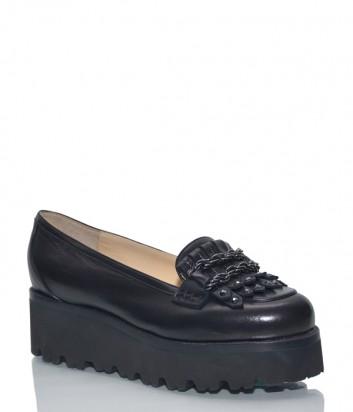 Кожаные туфли Nando Muzi 159 на платформе черные