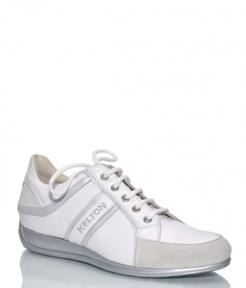 Кожаные кроссовки Kelton 6886 белые
