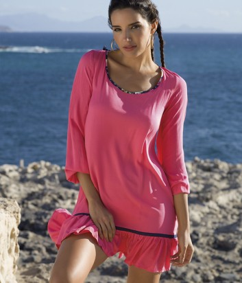 Пляжное платье-туника Ysabel Mora 85544 розовое