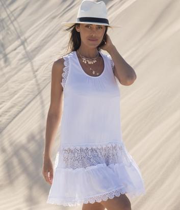Пляжное платье Ysabel Mora 85582 белое