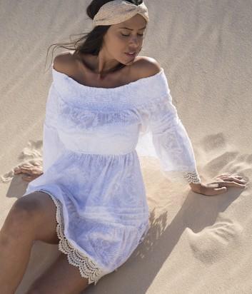 Пляжная туника Ysabel Mora 85584 белая
