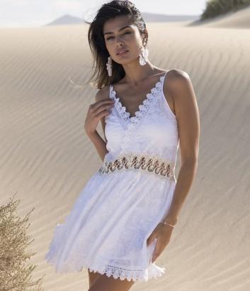 Пляжное платье Ysabel Mora 85585 белое