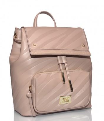 Кожаный рюкзак Cavalli Class Elda с внешним карманом бежевый