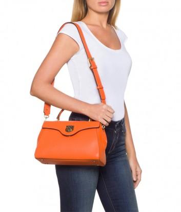 Кожаная сумка Tosca Blu 191B183 оранжевая