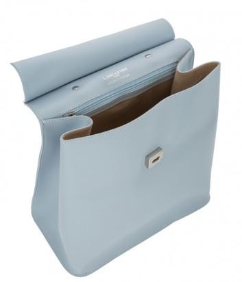 Кожаный рюкзак Lancaster 437-34 голубой