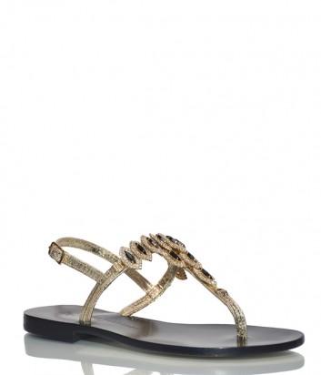 Кожаные сандалии Paola Firenze ST-20 золотые