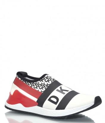 Текстильные кроссовки DKNY 1920337 белые с рисунком