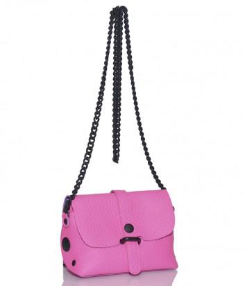 Кожаная сумка Gabs 440T1 через плечо розовая