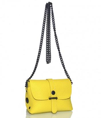 Кожаная сумка Gabs 440T1 через плечо желтая