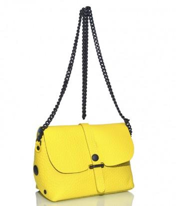 Кожаная сумка Gabs 440T2 через плечо желтая