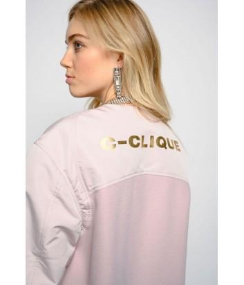 Пудровое пальто PINKO 1C102U с надписью на спине