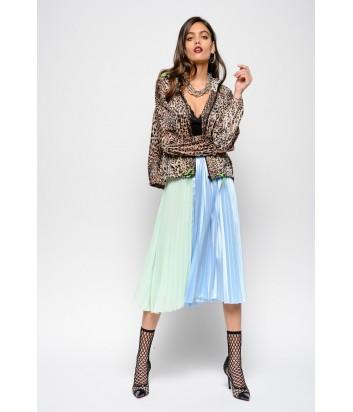 Плиссированная юбка PINKO 3U10HU двухцветная