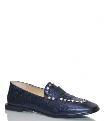 Туфли Fru.it 5307 в блестящей коже синие