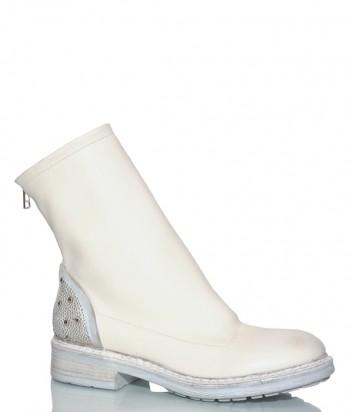 Белые ботинки Fru.it 5325 с молнией на пятке