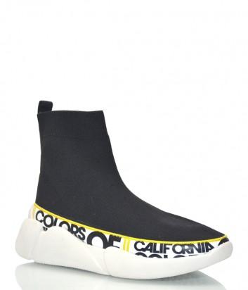 Текстильные кроссовки-носок Colors of California 09 черные